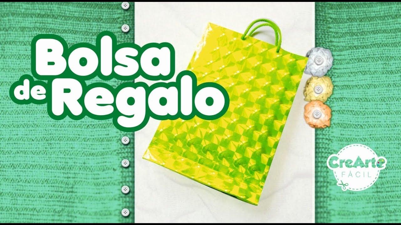 C mo hacer una bolsa de papel regalo f cil manualidades - Hacer bolsas de papel para regalo ...