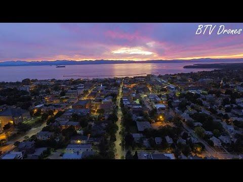 Burlington Vermont Sunset Drone