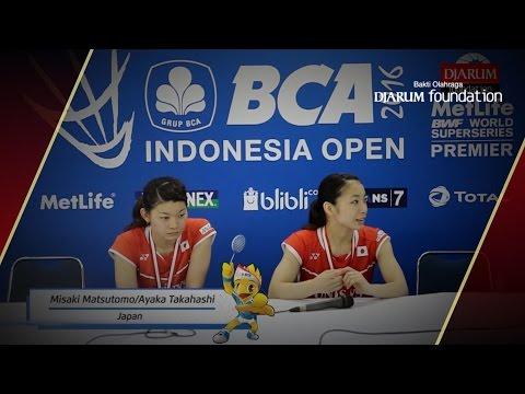 Interview Misaki Matsutomo/Ayaka Takahashi (Japan) - Women's Doubles Champions BIOSSP2016
