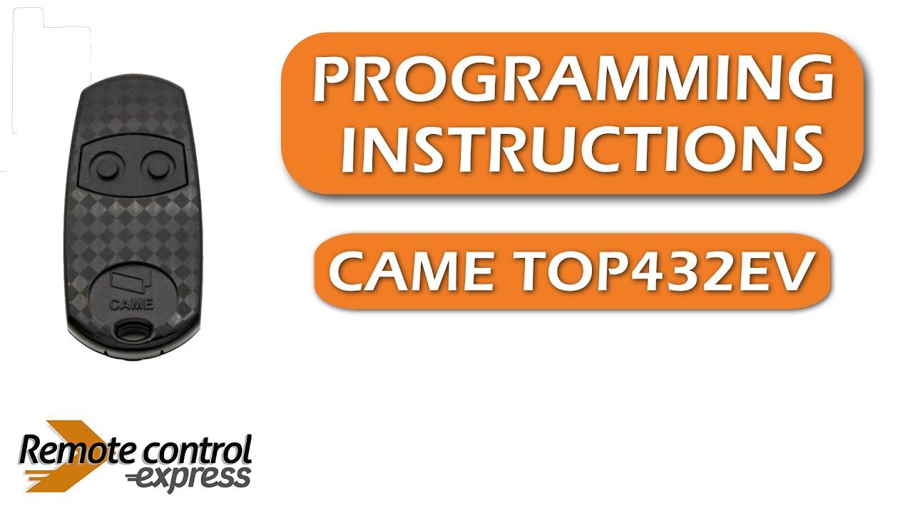 T/él/écommande CAME TOP434EE