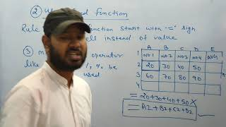 EXCEL Basic class - How to use basic function of Excel. Excel Userdefined Function.By Bunty Suryaraj