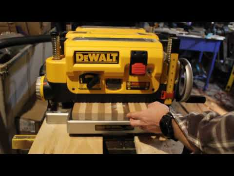 Dewalt DW735 Planer Review - YouTube