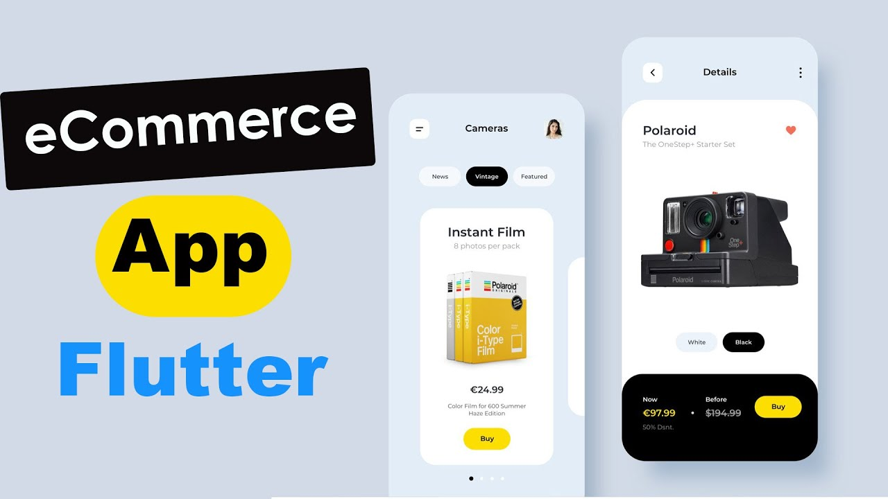 How to Make an eCommerce Application UI using Flutter and Dart