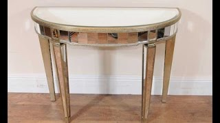 Art Deco Mirrored Console Table Furniture Modernist