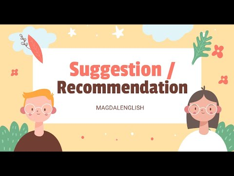 SUGGESTION and RECOMMENDATION (Materi Bahasa Inggris Kelas 8)
