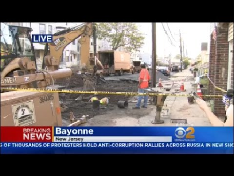 Three Water Main Breaks In Bayonne, New Jersey