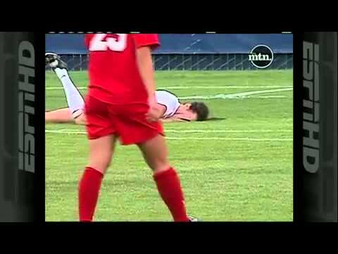 Elizabeth Lamberts Dirty Play and hair pull Mars BYU vs. New Mexico Womens Soccer
