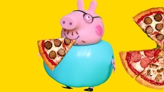 Peppa Pig. Свинка Пеппа новый мультфильм. Папа Свин объелся пиццы.