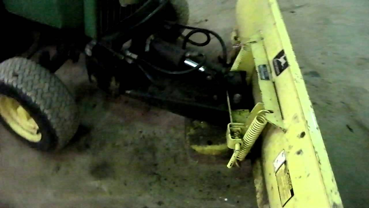 "JOHN DEERE 54"" FRONT HYDRAULIC BLADE - YouTube"