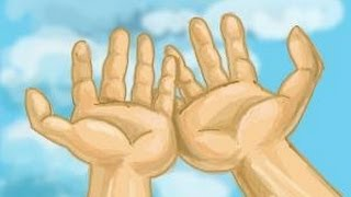 How to draw open hands