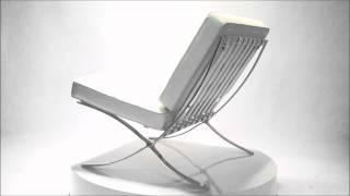 Barcelona chair stoel Creme | Designerstoelen