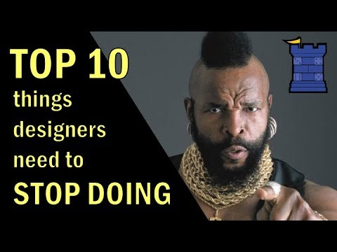 Top 10 Things Designers Need to STOP Doing