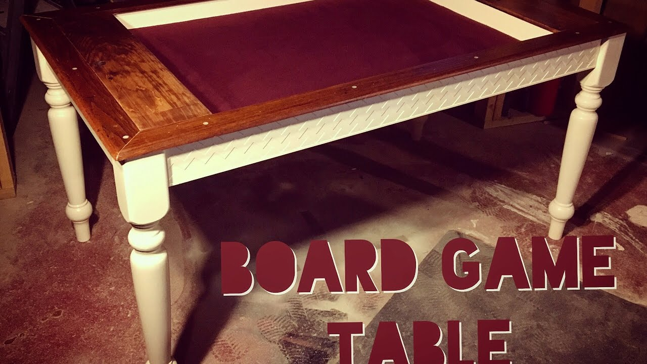 How To Make A Board Game Table Youtube