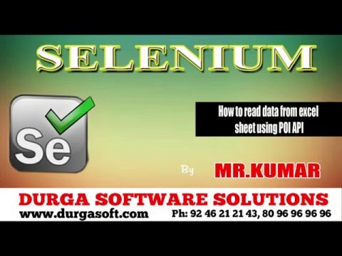 Selenium How to read data from excel sheet using POI API