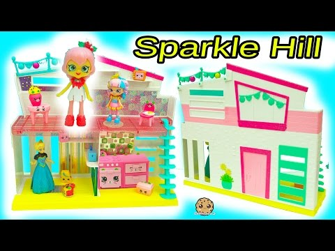 Sparkle Hill Happy Places Home House With Exclusive Shoppies Lucy Smoothie + Kitty Kitchen Petkins