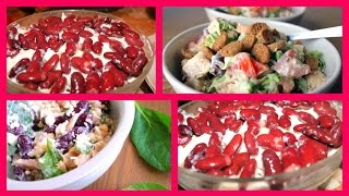 Новогоднее меню-Очень вкусный и простой куриный салат с фасолью