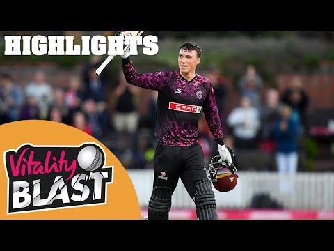 Somerset v Kent Spitfires | Banton Leads Somerset with Century | Vitality Blast 2019 - Highlights