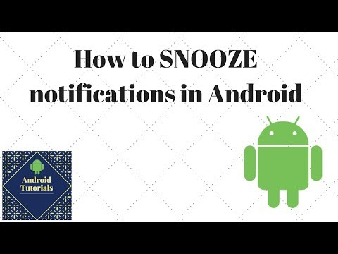How to SNOOZE notifications in Android - YouTube