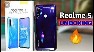Unboxing Realme 5 (Crystal Purple, 32 GB) (3 GB RAM) || First look review in hindi 2019