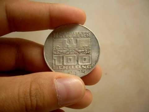 1975 Austrian 100 Schilling Coin
