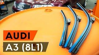 Kā nomainīt Stikla tīrītāja slotiņa AUDI A3 (8L1) - tiešsaistes bezmaksas video