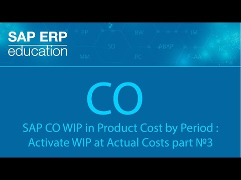 SAP CO WIP in Product Cost by Period : Activate WIP at Actual Costs part №3