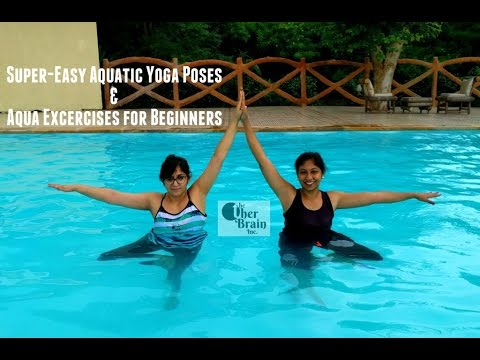 supereasy aquatic yoga poses  aqua excercises for