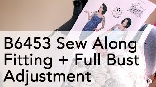 Gertie B6453 Sew Along: Full Bust Adjustment + Fitting | Vintage on Tap