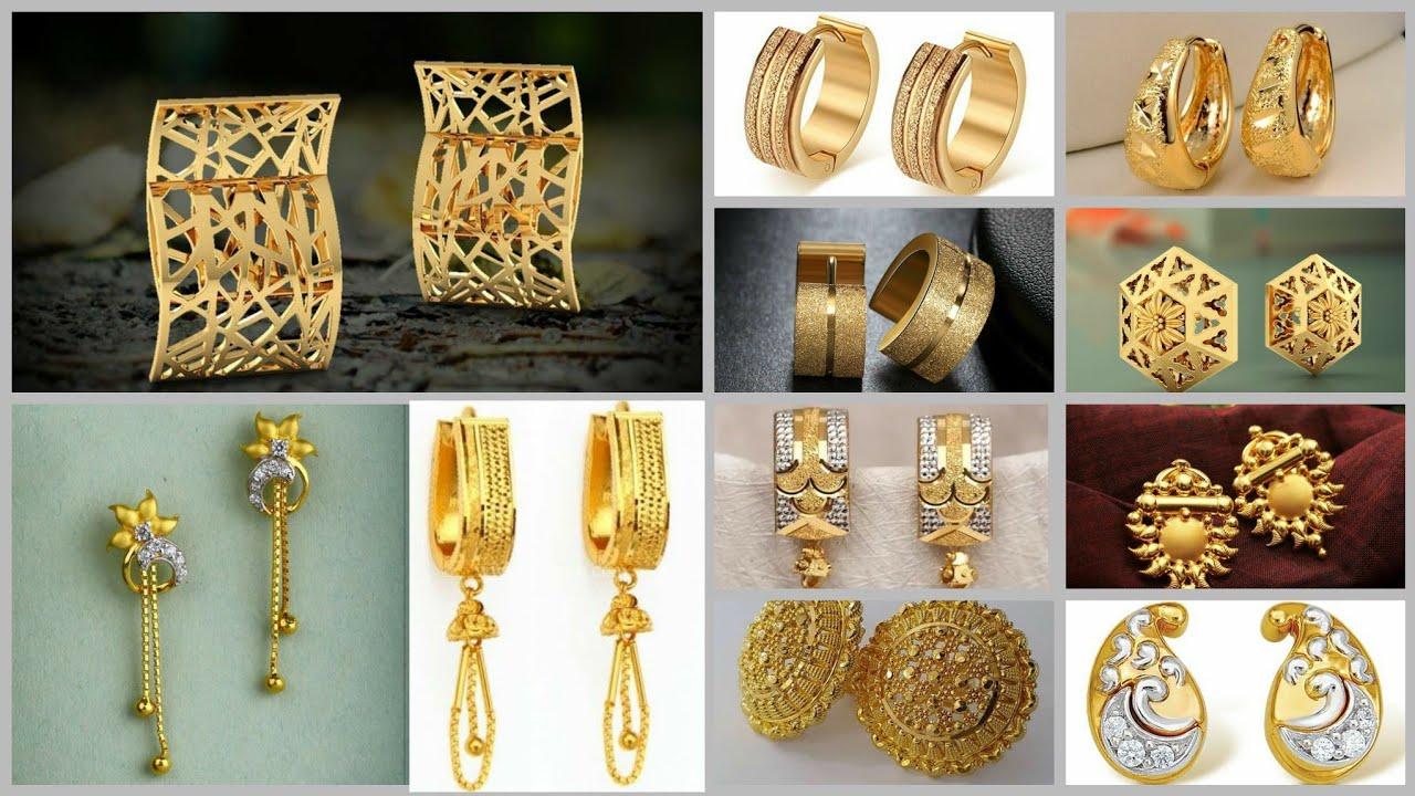 90+ 2 Gram Gold Earrings Style//Daily Wear Gold Earrings//Studs Earrings,chain Earrings