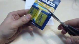 Розпакування Батареека Varta Longlife 6LR61 BLI 2 Alkaline