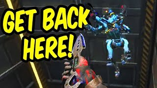 Mid-air knife fight! - Apex Legends Funny Moments