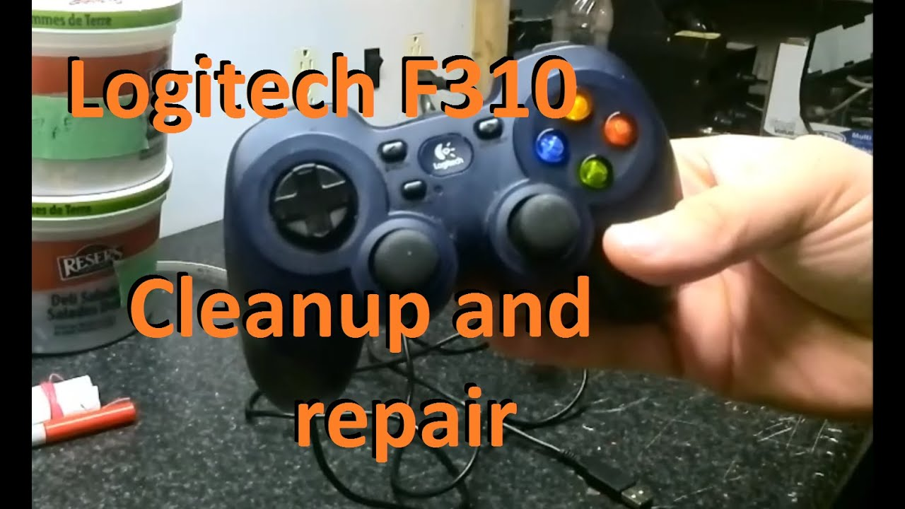 Logitech F310 cleanup and repair - YouTube