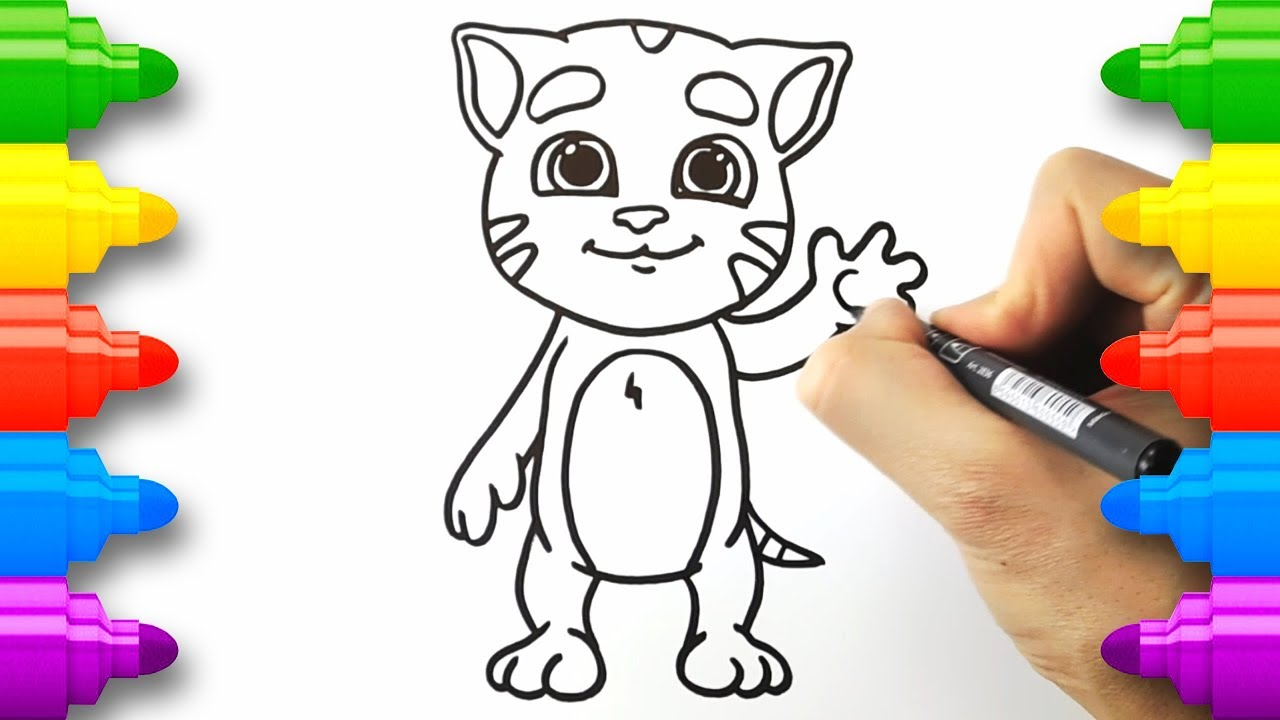 Talking Ginger Coloring Pages