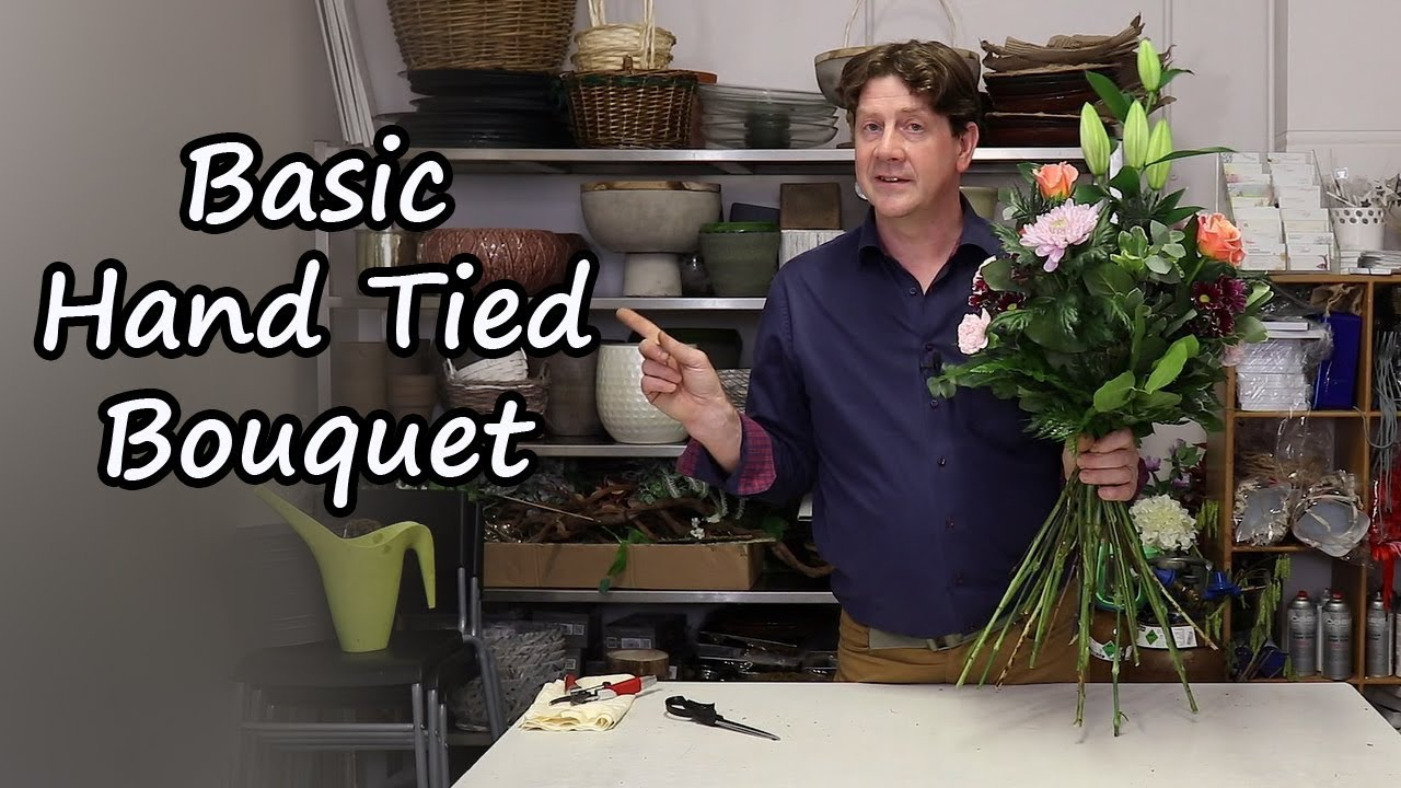 How To Make A Hand Tied Bouquet In Depth Tutorial Youtube