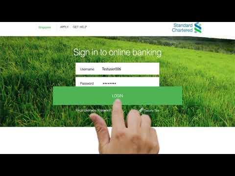 SG Online Banking - Balance enquiry