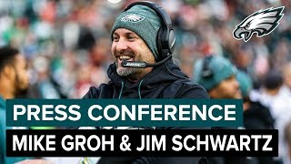 Jim Schwartz & Mike Groh Talk Bears Matchup | Eagles Press Conference