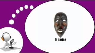 Французского видео урок = Человеческим лицом # Африканские маски