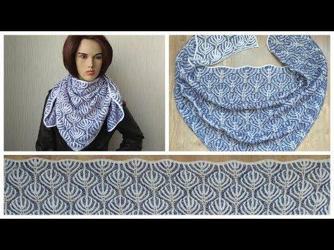 Brioche knitting *Frozen forest shawl* knitting patterns