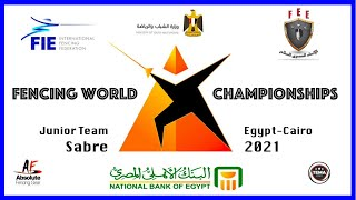Fencing World Championships Egypt Cairo 2021 - Junior Team Sabre Piste Blue