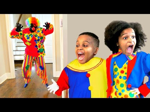 Thumbnail: Bad Baby Scary Clown ATTACKS Mannequin - Shasha and Shiloh - Onyx Kids