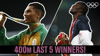 Men's 400m 🏃♂️ Last 5 Champions!