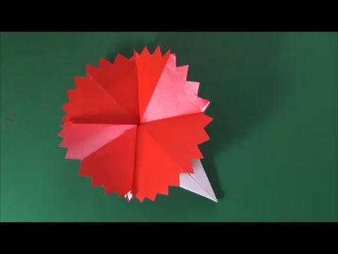 ハート 折り紙 折り紙 花 カーネーション : youtube.com