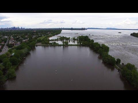 Drone view - Parc des Rapides park - Montreal,QC
