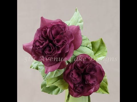 How to Create a Flower Paste Heirloom English Rose