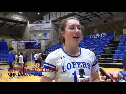 Post-match Interview with UNK's Tara Ziegelbein (2017 VB Tourney Semifinal Game 2)
