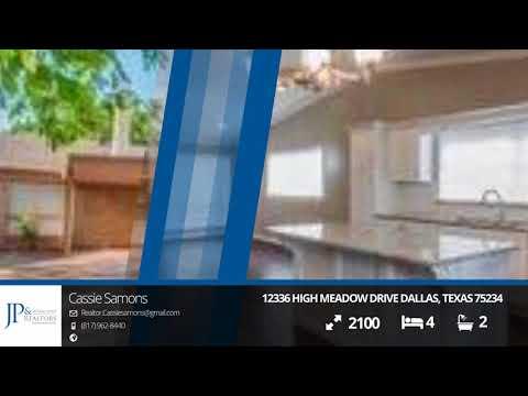 12336 High Meadow Drive Dallas, Texas 75234 | JP & Associates Realtors | Homes for Sale