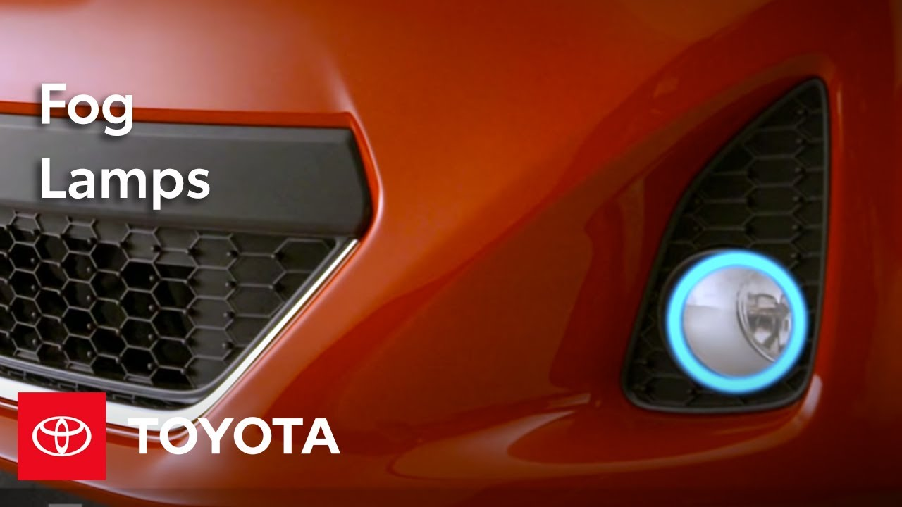 2012 Yaris How To Fog Lamps Toyota Youtube