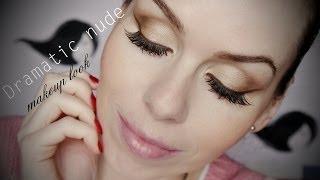 Dramatic nude matte makeup look / Výrazné nude oči, dramatický matný makeup