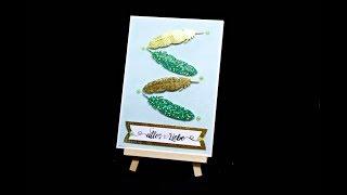 Karte basteln mit Papier | Bastelideen für Anfänger | Geschenk schnell selber basteln