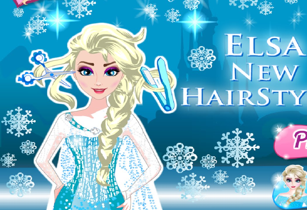 Disney Frozen Elsa New Hairstyle Frozen Elsa Hairstyle Game Youtube